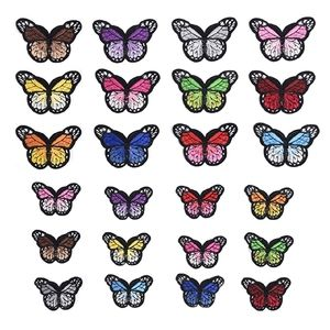 6 Pc Butterfly Iron On Patches Monarch VSCO
